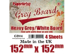 PaperArtsy Grey Board GB04 4pk