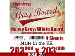 PaperArtsy Grey Board GB05 4pk