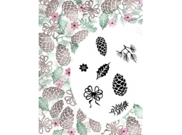 Card-io Festive Fir-cones Majestix Stamp Set