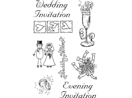 Clear Stamp - Wedding Set 1 Size A6