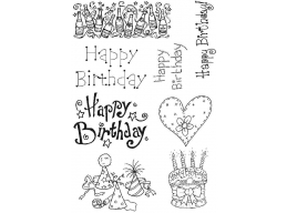 LM Happy Birthday Set 1 Clear Stamps