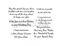 Wedding Collection - May This Special Day Clear Stamp