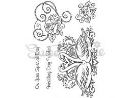 Wedding Collection - Wedding Day Wishes Clear Stamp