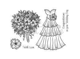 Wedding Collection - Wedding Dress Clear Stamp