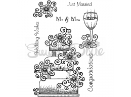 Wedding Collection - Wedding Cake Clear Stamp