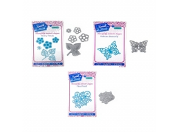 Sweet Dixie Petals, Floral and Butterfly Trio Die Set