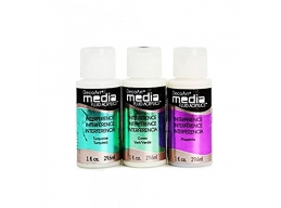 DecoArt 3 x Media Interference Paints - Green, Magenta & Turquoise