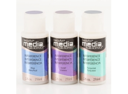 DecoArt 3 x Media Interference Paints - Blue, Violet & Turquoise