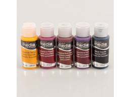 DecoArt 5 x 1oz Light Reflective Transparent Media Paint Kit