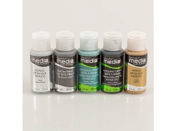 DecoArt 5 x 1oz Metallix Mixing Faux Finish Media Paint Kit by DecoArt Kits