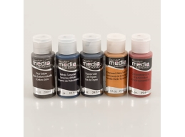 DecoArt 5 x 1oz Grunge Media Paint Kit 1