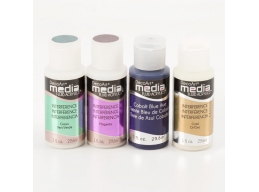 DecoArt Media Fluid Acrylics Interference Set 3 Bolds Set of 4