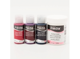 DecoArt 3x Media Paints & 1x White Tinting Base