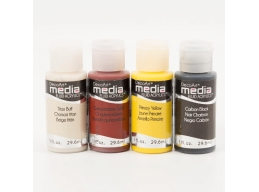 DecoArt x 4 Media Paints Rusty