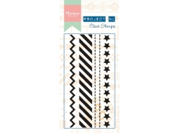 Clear Border Stamp - Stars