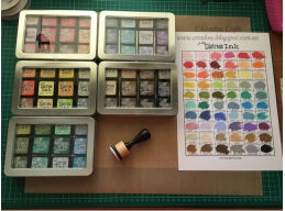 Ranger Tim Holtz Distress Mini Ink Pad Kit B - 1-15, Super Bundle of all 60 Colours, 5 Distress Mi..