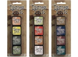 Ranger Tim Holtz Distress Mini Ink Pad Kits 10, 11 and 12 Bundle