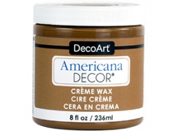 Americana Decor Creme Wax - Golden Brown - 8 oz