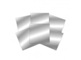 Platinum Pack 2 - 6 in x 6 in Silver Craft Metal Sheets 6 Pieces