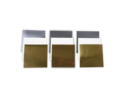 Platinum Pack 3 - 6 in x 6 in Poster Board Sheets Metallic Gold, Metallic Silver, & White