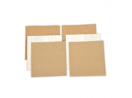 Platinum Pack 5 - 6 in x 6 in Cork, Corrugated Cardboard, & Balsa Wood Sheets 6 Pieces