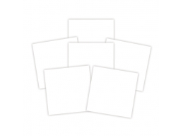 Platinum Pack 6 - 6 in x 6 in White Adhesive Sheets 6 Pieces