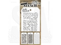 Stampers Anonymous, Tim Holtz , Mini Stencil Set 20