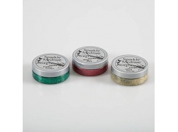 Imagination Crafts Sparkle Medium Christmas Classics - Forest Green, Bright Red and Gold Shine