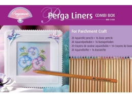 Pergamano Perga Liners Combi Box - 20 Aquarelle Pencils & 16 Basic Pencils | Art of Stourbridge
