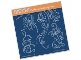 Jayne's Trumpet Lilies A5 Square Groovi Plate