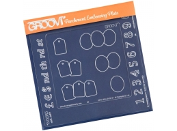 Numbers Groovi Inset + Oval & Tags A5 & A6 Square Groovi Plate