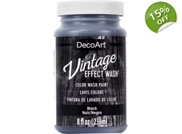 Black Vintage Effect Wash 8oz