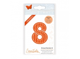 Tonic Studios - Large Numbers - Striped Number 8 Die - 1576E
