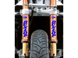 Reflective Dunlop Fork Leg Sticker Decals | Stick and Glow Reflective Decals