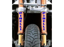 Reflective Pirelli Fork Leg Sticker Decal | Stick and Glow Reflective Decals