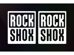 Rock Shox Logo Decal/Sticker | MTB | DH | Stick and Glow Reflective Decals