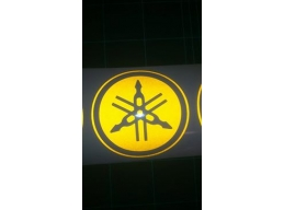 Reflective Yamaha Logo Sticker Tuning Fork R1 R6 YZF XJR Fazer Decal | Stick and Glow Reflective D..