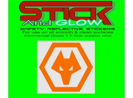 Reflective Wolves Decal | Stick and Glow Reflective Decals