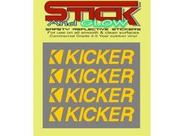 Reflective 4 Kicker car audio speaker stereo Amplifier Vinyl Decal Stickers | Stick and Glow Refle..