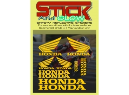 REFLECTIVE Honda Wing Decal Kit 600rr 1000rr Wings Stickers / Decals sag217 | Stick and Glow Refle..