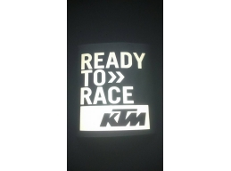 3 x REFLECTIVE KTM Ready To Race moto sticker for fairing tank helmet | Stick and Glow Reflective ..