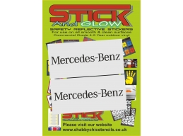 MERCEDES BENZ SPRINTER back door Replacement decal Sticker x2 | Stick and Glow Reflective Decals