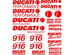 Reflective Ducati 916 desmoquattro Decal Set | Stick and Glow Reflective Decals