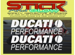 Reflective 2x Ducati Performance 1199 1098 999 998 916 899 Fairing Decal Sticker Motorcycle | Stic..