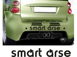 Reflective Smart Arse Mercedes Window Bumper Decal Sticker | Stick and Glow Reflective Decals