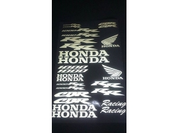 Reflective Honda CBR 1000rr racing 26 piece Decal Stickers Kit | Stick and Glow Reflective Decals