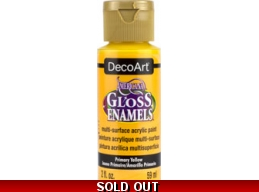 Americana Gloss Enamels - Primary Yellow - 2 oz
