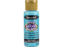 Americana Gloss Enamels - Indian Turquoise - 2 oz