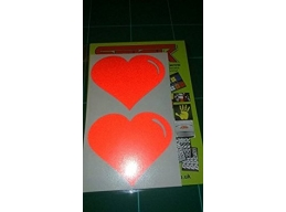 Pair of REFLECTIVE Hearts stickers/decals | sag274 | Stick and Glow Reflective Decals