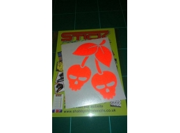 Reflective Skull Cherries stickers/decals | sag276 | Stick and Glow Reflective Decals